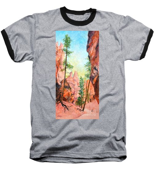 Bryce Canyon #2 Baseball T-Shirt by Betty M M Wong