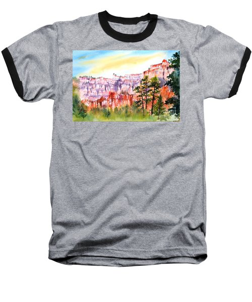 Bryce Canyon #3 Baseball T-Shirt by Betty M M Wong