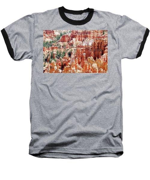 Bryce Canyon Hoodoos Baseball T-Shirt by Nancy Landry