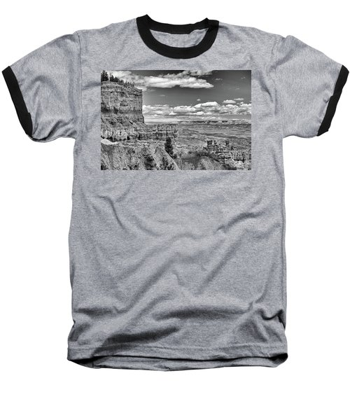 Bryce Canyon In Black And White Baseball T-Shirt by Nancy Landry