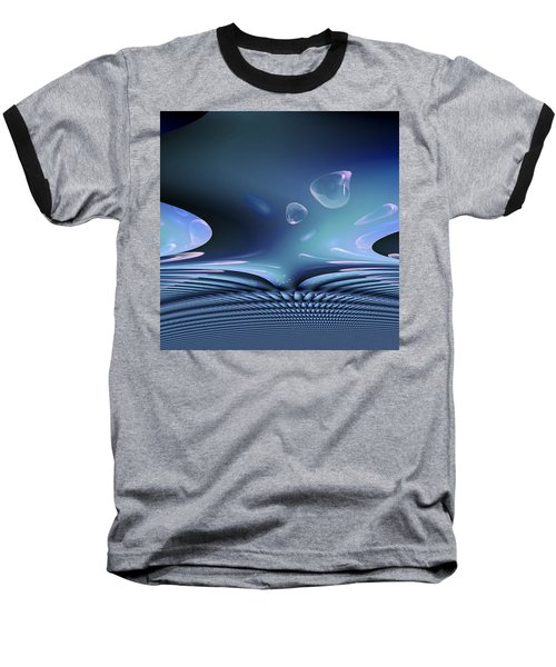 Baseball T-Shirt featuring the digital art Bubble Abstract by Robert G Kernodle