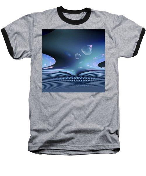 Bubble Abstract Baseball T-Shirt