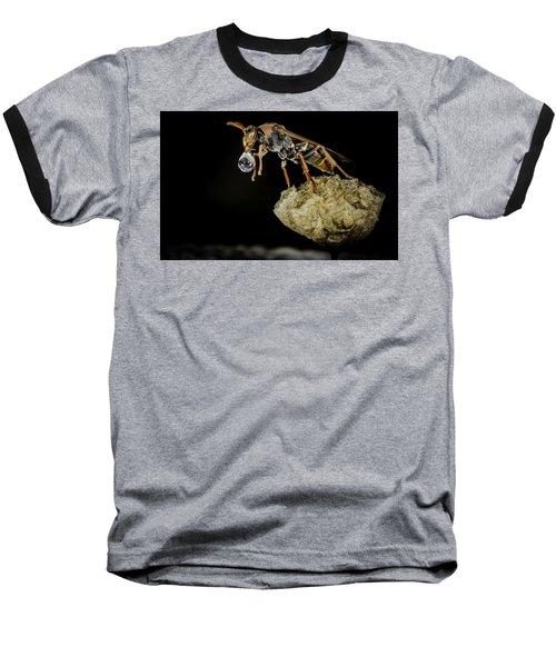 Bubble Blowing Wasp Baseball T-Shirt