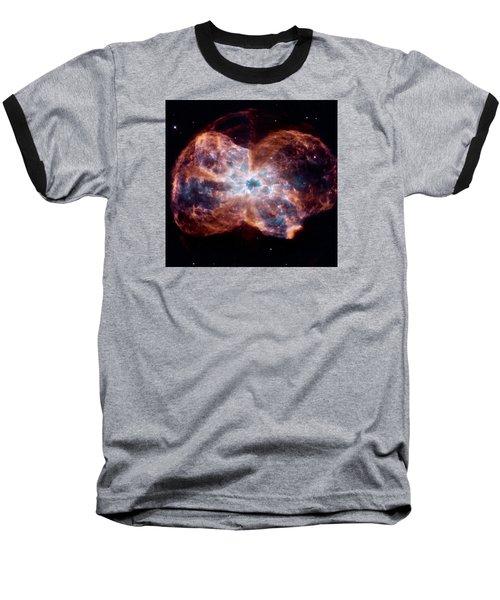 Bubble Nebula Baseball T-Shirt by Hubble Space Telescope