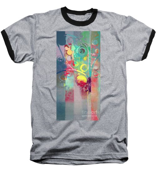 Baseball T-Shirt featuring the painting Bubble Tree - 285l by Variance Collections