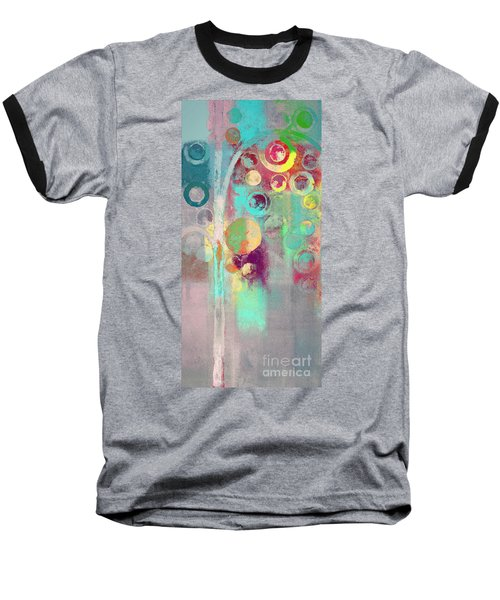 Baseball T-Shirt featuring the digital art Bubble Tree - 285r by Variance Collections