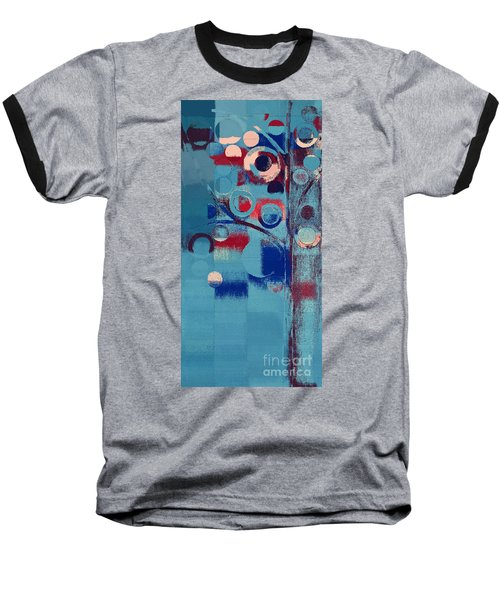 Baseball T-Shirt featuring the painting Bubble Tree - 85e-j4 by Variance Collections