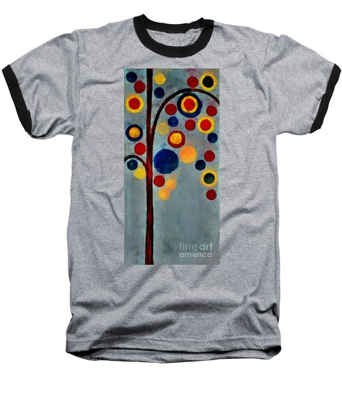 Bubble Tree - Dps02c02f - Right Baseball T-Shirt by Variance Collections