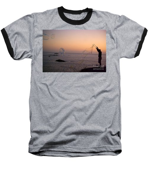 Bubbles On The Beach Baseball T-Shirt
