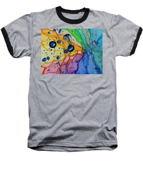 Bubbles Baseball T-Shirt by Raymond Perez