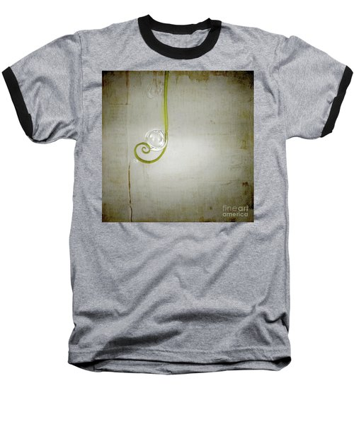 Baseball T-Shirt featuring the digital art Bubbling - 02tt04a by Variance Collections