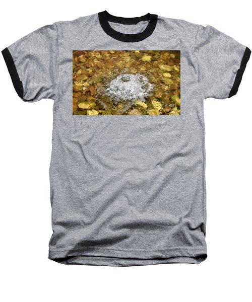 Bubbling Water In Rock Fountain Baseball T-Shirt