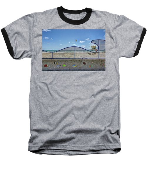 Buccaneer Beach Baseball T-Shirt by Ann Patterson