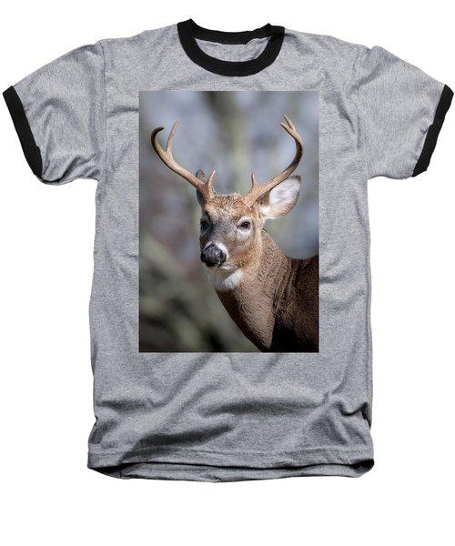 Buck Headshot Baseball T-Shirt by Tyson and Kathy Smith