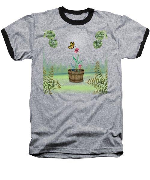 Bucket Butterfly 1 Baseball T-Shirt
