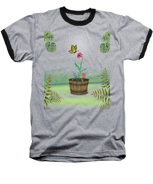 Bucket Butterfly 1 Baseball T-Shirt