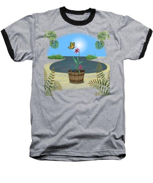 Bucket Butterfly Baseball T-Shirt