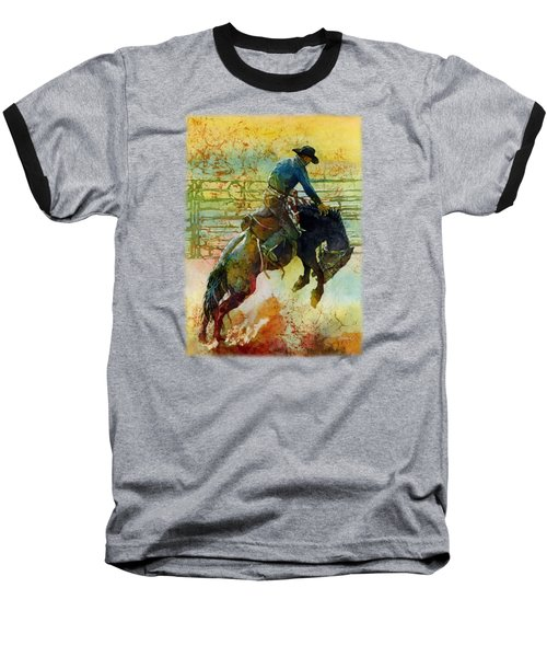 Baseball T-Shirt featuring the painting Bucking Rhythm by Hailey E Herrera