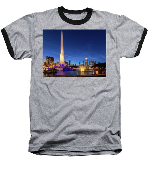 Buckingham Fountain At Dusk Baseball T-Shirt