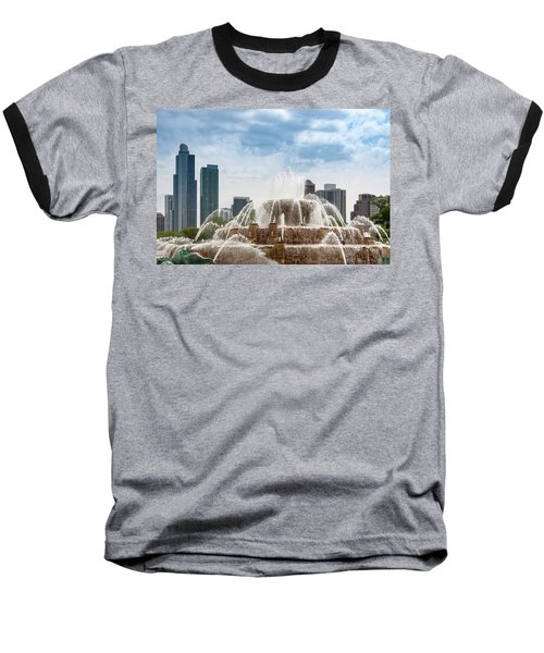 Buckingham Fountain In Chicago Baseball T-Shirt