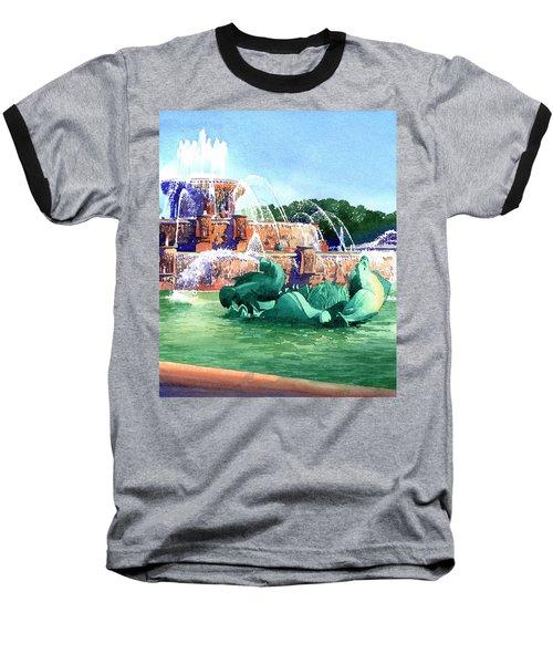 Buckingham Fountain Baseball T-Shirt