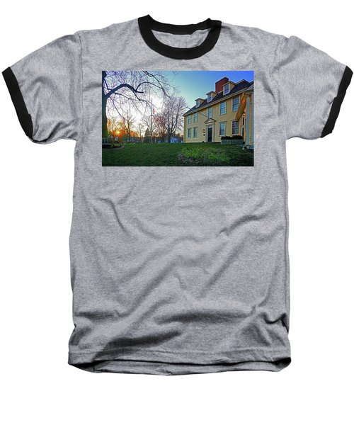 Buckman Tavern At Sunset Baseball T-Shirt