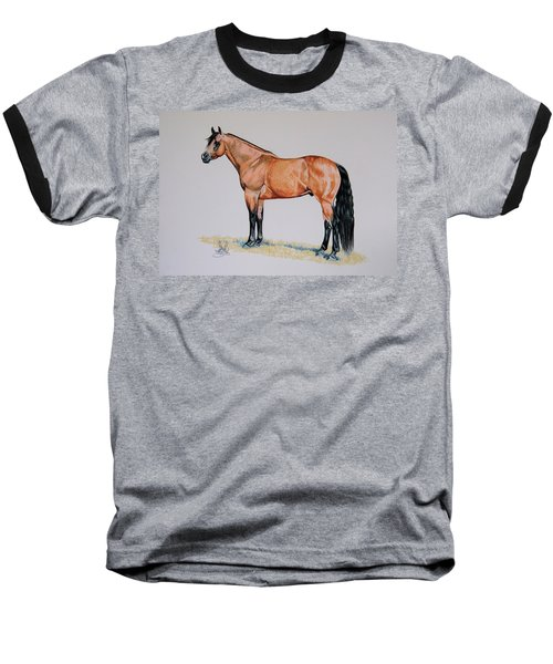Buckskin Beauty Baseball T-Shirt by Cheryl Poland