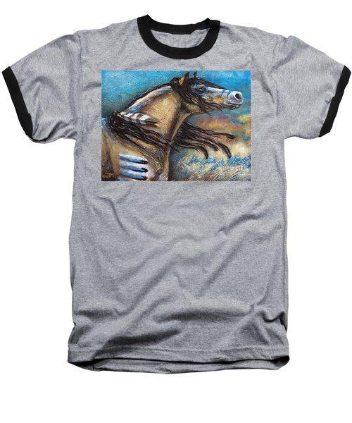 Buckskin Bell Blues Baseball T-Shirt