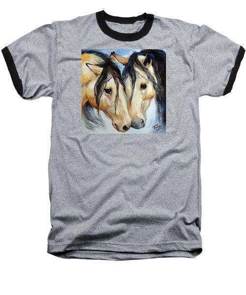 Buckskin Friends Baseball T-Shirt by Marcia Baldwin
