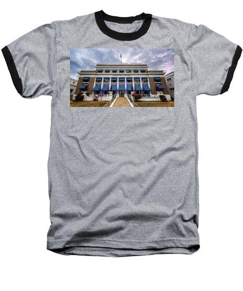 Baseball T-Shirt featuring the photograph Buckstaff Bathhouse - Christmas by Stephen Stookey