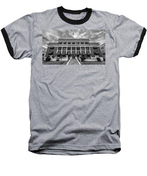 Baseball T-Shirt featuring the photograph Buckstaff Baths - Bw by Stephen Stookey