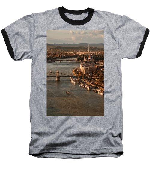 Budapest In The Morning Sun Baseball T-Shirt by Jaroslaw Blaminsky
