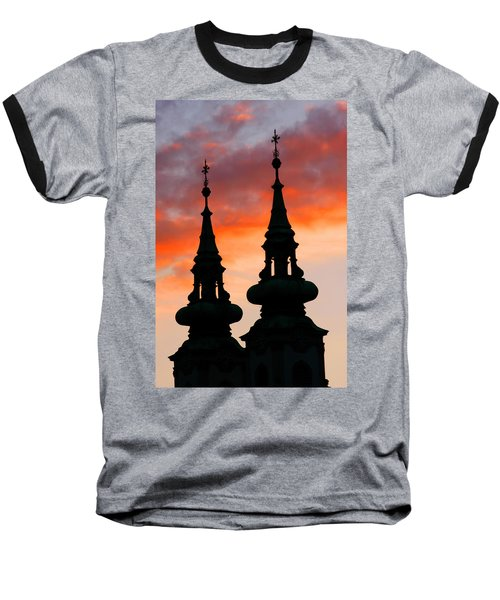 Baseball T-Shirt featuring the photograph Budapest Sunset by KG Thienemann