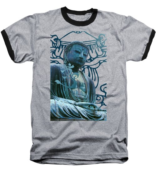 Baseball T-Shirt featuring the digital art Buddha Great Statue by Robert G Kernodle