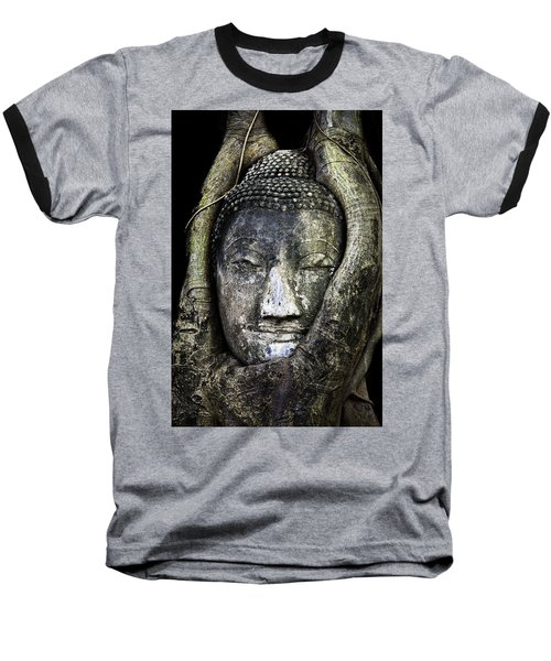 Buddha Head In Banyan Tree Baseball T-Shirt