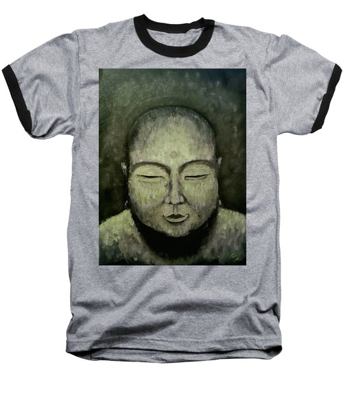 Buddha In Green Baseball T-Shirt