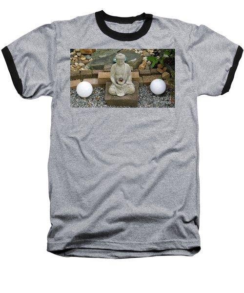 Buddha In The Garden Baseball T-Shirt