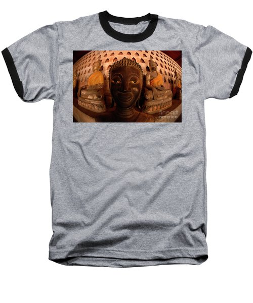 Buddha Laos 1 Baseball T-Shirt by Bob Christopher