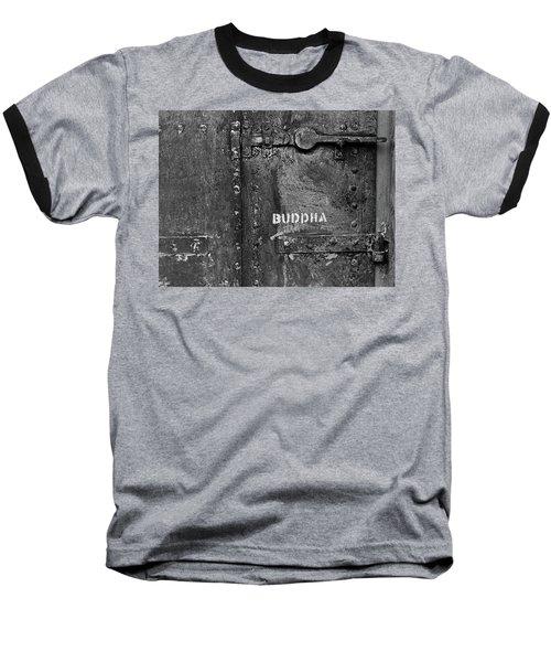 Buddha Baseball T-Shirt by Laurie Stewart