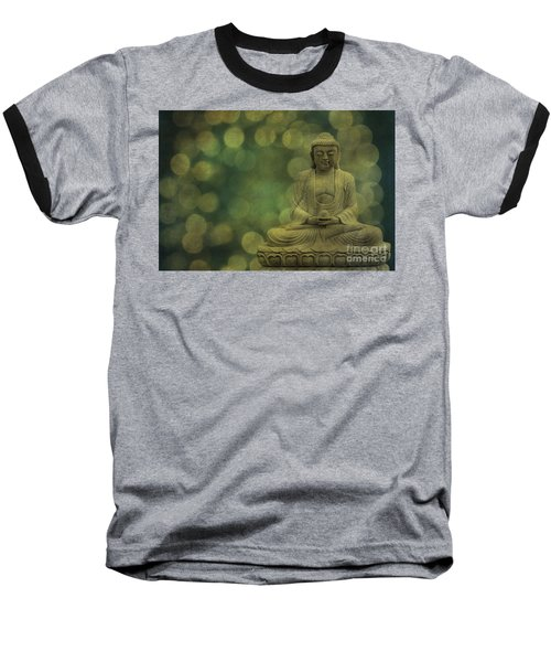 Buddha Light Gold Baseball T-Shirt