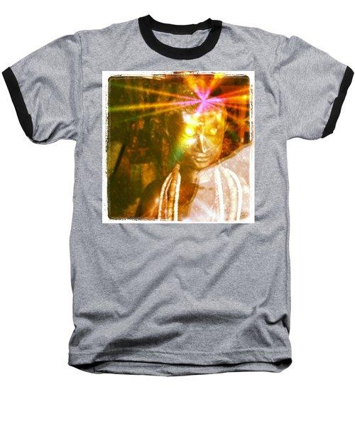 Buddha Light Baseball T-Shirt by Roselynne Broussard