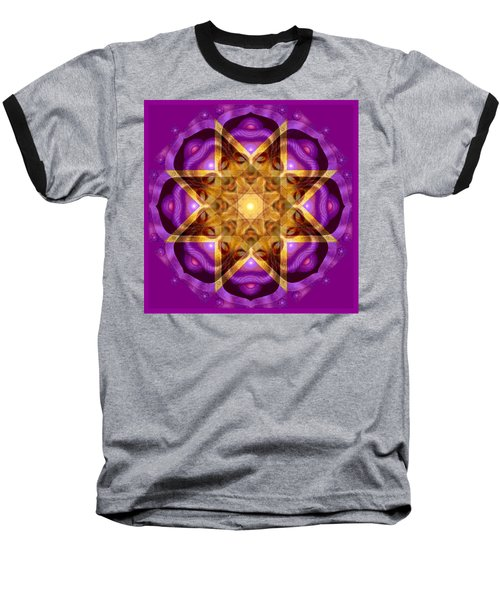 Baseball T-Shirt featuring the painting Buddha Mandala by Sue Halstenberg