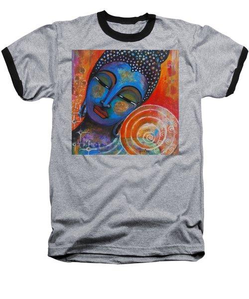Baseball T-Shirt featuring the painting Buddha by Prerna Poojara