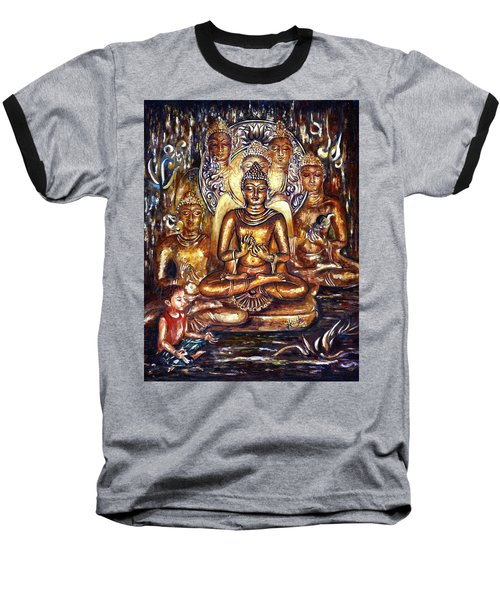 Buddha Reflections Baseball T-Shirt