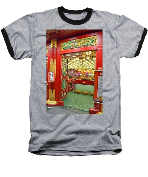 Baseball T-Shirt featuring the digital art Buddha Tooth Relic Temple And Museum by Eva Kaufman