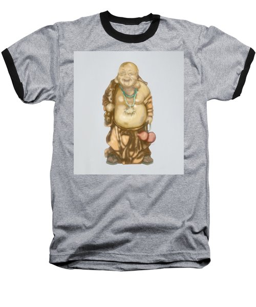 Baseball T-Shirt featuring the mixed media Buddha by TortureLord Art