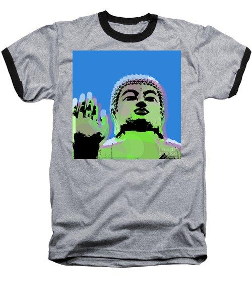 Baseball T-Shirt featuring the digital art Buddha Warhol Style by Jean luc Comperat