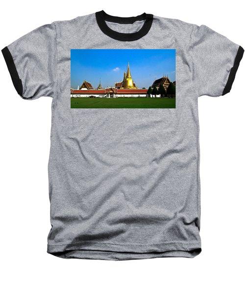Buddhaist Temple Baseball T-Shirt