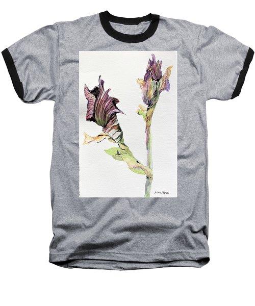 Budding Irises Baseball T-Shirt by Mindy Newman