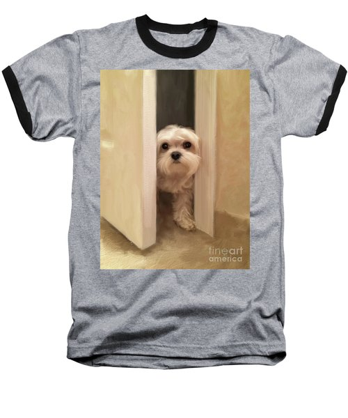 Baseball T-Shirt featuring the photograph Hello by Lois Bryan